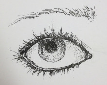 eye observation in pen