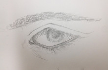 eye observation in pencil