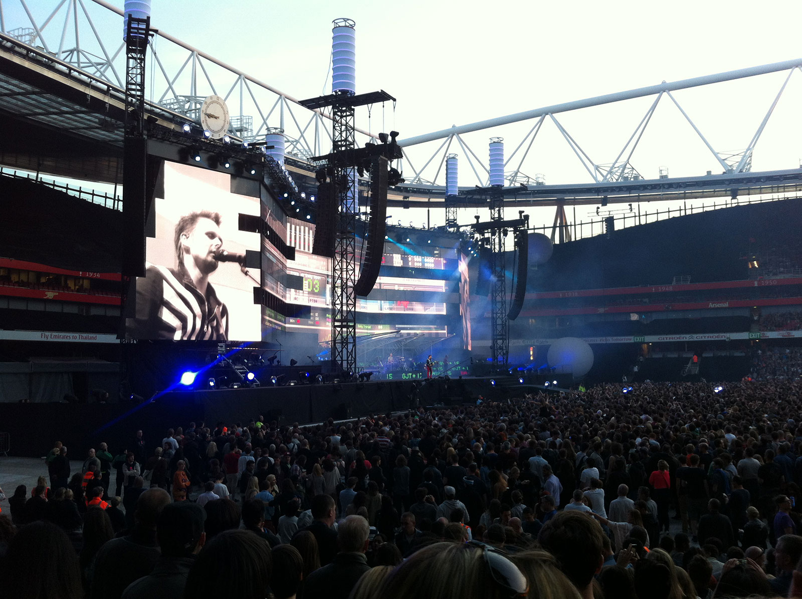 Muse's 2nd Law tour stage