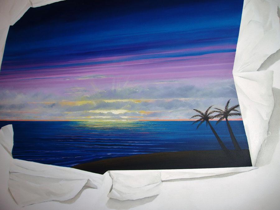 Lee Simone Tromple L'oeil mural