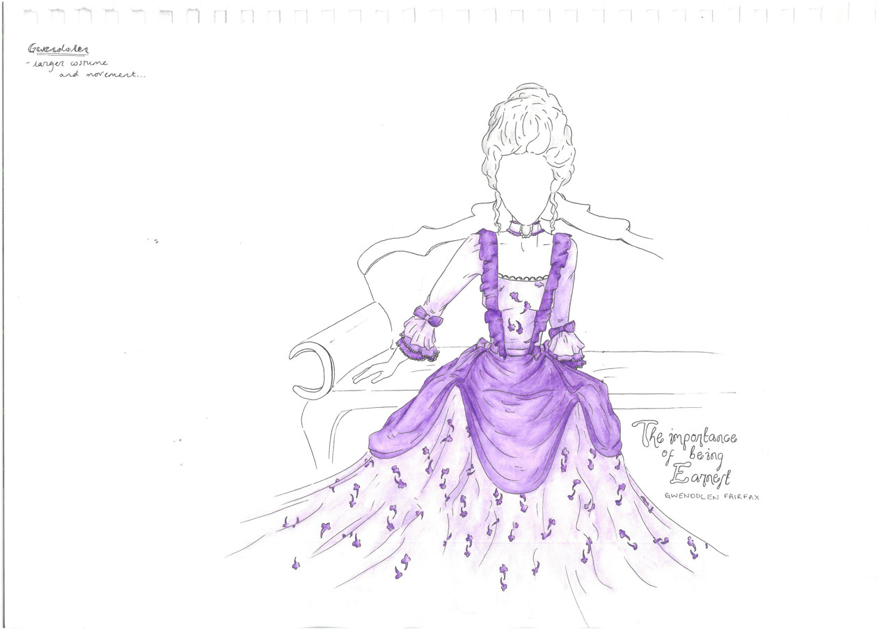 Costume design for The Importance of Being Earnest