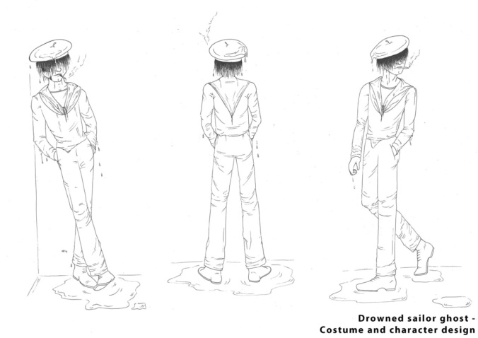 'The Haunted Histories of Hartlepool' Drowned Sailor Character Design