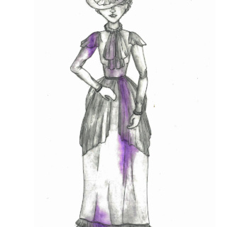 'The Haunted Histories of Hartlepool' Aunt Annie Ghost Design