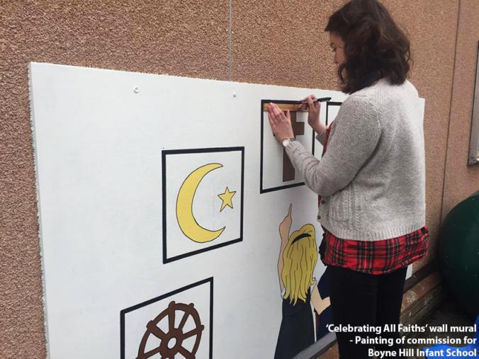 Wall Mural Painting Progress