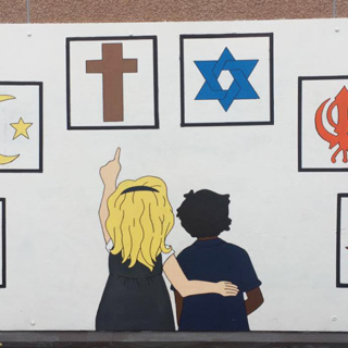 'Celebrating All Faiths' wall mural commission
