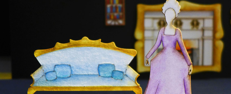 'The Importance of Being Earnest' Act 1 Scale Set Model (1:25) Detail